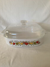 Corning Ware Spice Of Life Le Romarin  2 Qt Casserole Dish With Lid A-10-B