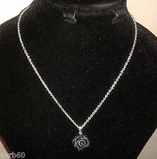 necklace chain with black rose pendant chain 16 inch new