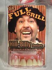 FULL GRILL DENTURE W TABACCO TEETH goofy joke bad false hill  billy bob GAG