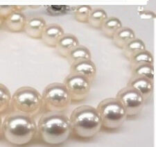 8MM White South Sea Akoya Shell Pearl Necklace 18""