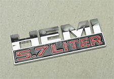 1Pcs Car HEMI 5.7LITER ABS Plastic Car Trunk Lid Sticker Badge Emblem Decoration