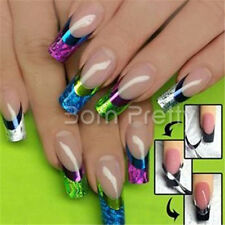 1Sheet Colorful 3D French Nail Art Stickers French Edge Decals Nail Decoration