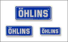 OHLINS Clear Sticker Size : 75 X 30 mm   ( Large )