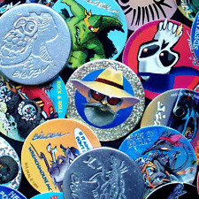 POGS 25 Assorted MILKCAPS + 2 Thick ALUMINIUM SLAMMERS - New/Mint - POG SHOP