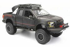 MAISTO 1:24 OFF ROAD KINGS 2017 FORD F-150 RAPTOR DIECAST MODEL PICKUP Black Car
