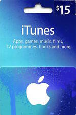 $15 US Apple iTunes Buono Regalo Certificato Voucher USA Americano iTunes Codice