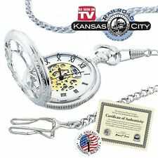 Collectible Silver Kansas City Railroad Pocket Watch Seen on TV Antique Style