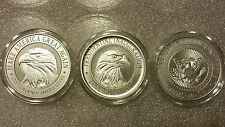 President Donald Trump 3 oz .999 silver coin set Make America Great Again