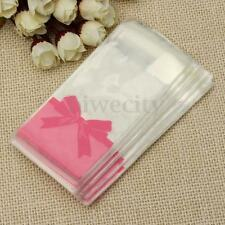 100Pcs Clear Self-adhesive Sweet Candy Bags Favors Cellophane For Party Gift