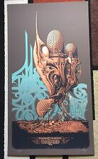Aaron Horkey Genghis Tron Board Up the House Tour Screen Print Poster Music