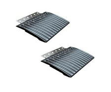 2 PC CALIBER EDGE GLIDES SNOWMOBILE TRAILER HINGED RAMP LOADING RAMPS