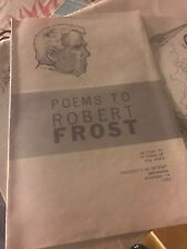 Poems To Robert Frost 1962 University Of Detroit