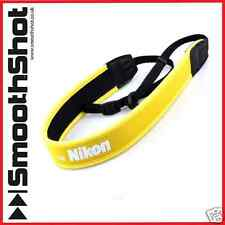 YELLOW NECK SHOULDER CAMERA STRAP ANTI-SLIP BELT FOR NIKON DSLR SLR CAMERAS