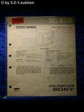 Sony Service Manual SRS U34K Active Speaker System (#1889)