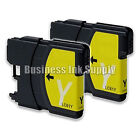2 YELLOW New LC61 Ink Cartridge for Brother MFC-495CW MFC-J410W MFC-295CN LC61Y
