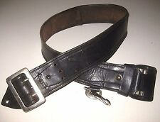 Vintage Genuine Black High Quality Leather Men's Duty Holster Belt Size 30-34