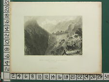 c1837 ANTIQUE PRINT ~ MOUNT CERVIN VALLEY OF St NICHOLAS STALDEN SWITZERLAND