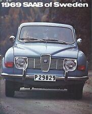 Auto Brochure - Saab of Sweden - 96 Sedan 95 Station Wagon - 1969  (AB986)