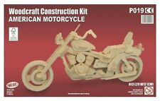 Quay - AMERICAN MOTORCYCLE - Woodcraft Construction Kit - Wooden Model Puzzle 9+