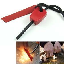 Magnesium Stone Fire Flint Starter Lighter Kit Outdoor Camping Survival Tool Red