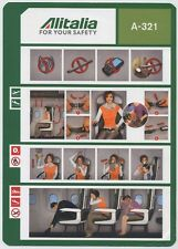 ALITALIA SAI A-321 safety card 64503021 01/01/2015 small size - sc619