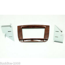 CT23MB21 MERCEDES CL C215 1996 - 2006 WOOD EFFECT DOUBLE DIN FACIA ADAPTOR PANEL