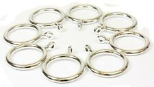 Pack of 8 Chrome Finish 28mm Pole Plastic Curtain Pole / Rod Rings with Eyelets