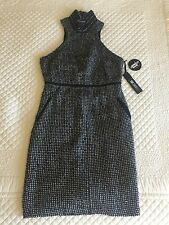 Karl Lagerfeld Cocktail Dress Black & White Boucle: Macy's Size 8. New W/ Tags