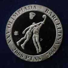 Spanien 2000 Pesetas 1990 Basketball Olympische Spiele 1992 Silber PP