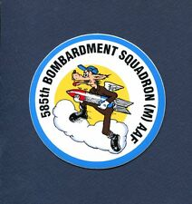 585th BS BOMB SQUADRON DECAL HERITAGE USAF With Squadron Patch