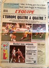 L'Equipe Journal 30/09/1987; Volley/ Hand/ Sella/ Basket/ Foot Maroc, Suisse