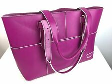 IIIBeCa by Joy Gryson New Berry Leather Harrison Street Tote Purse NWT