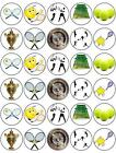 """WIMBLEDON TENNIS 30 x 1.5"""" Fairy Rice Paper Cup Cake Toppers - FREE P&P D2"""