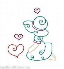 Colorline Valentine Sunbonnets 10 Embroidery Designs on multi-formatted CD