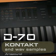 ROLAND D70  for KONTAKT 72 .nki  PATCHES 1184 WAV SAMPLES 24BIT AMAZING QUALITY