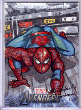 "KIMBERLY DUNAWAY 2012 AVENGERS ASSEMBLE ""SPIDERMAN"" SKETCH CARD 1/1"