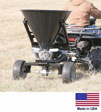 SPREADER - Tow Behind for ATVs UTVs & Garden Tractors - 300 Lb / 5 Bushel Cap