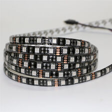 5050 SMD 1m rgb multi color tape 60 LED Flexible Light Strip black PCB Lamp12V