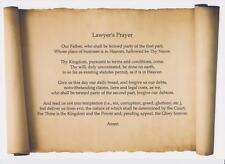 """Lawyers Prayer A4 Scroll """"Great Legal Gift Idea for All Law Students etc """""""