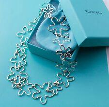 Rare, Precious Tiffany & Co Silver Plumeria Flower Necklace