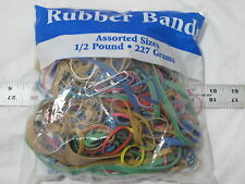 8 oz bag Rubber Bands USA Color Office Home Natural Large Small wide Free Ship!!