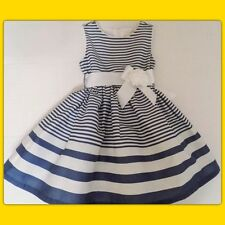 NWT Girls 18-24 mo THE CHILDRENS PLACE Sailor Nautical CHAMBRAY STRIPE DRESS Bow