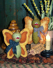 Primitive Raggedy Butterfly Bug Doll Ornies Paper Pattern 351