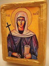 Saint Photine Fotini The Cypriot Byzantine Greek Orthodox Icon on Wood Handmade