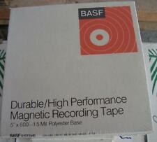 """BASF Durable/High Perfomance Magnetic Recording Tape 5"""" x 600' NOS"""