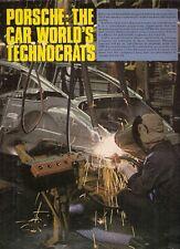 Porsche Motor Supplement 1980-81 UK Market Sales Brochure