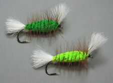 Green Machine and Chartreuse Bomber - Size 4 - Atlantic Salmon and Trout Flies