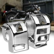 Motorcycle Chrome Silver Switch Housings Cover For Yamaha XVS V-Star XV1100 HOT