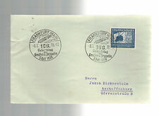 1938 Frankfurt Germany Zeppelin 100th  Anniversary Cover # C59