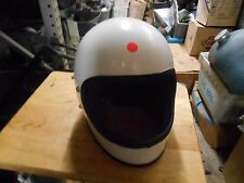 NOS Vintage Retro Buco Solid White Medium Full Face Motorcycle Helmet 1825 4